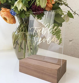 gold acrylc wood table numbers
