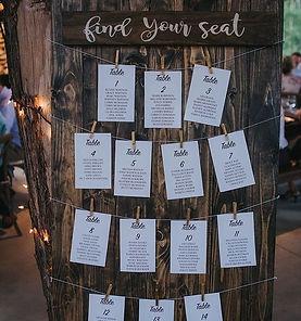dark wood place cards