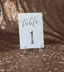 silver water color table numbers