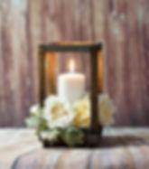 open wood lantern