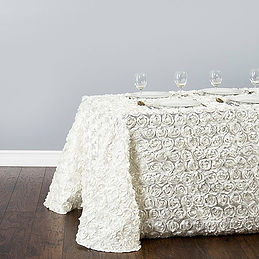 rossette ivory tablecloth
