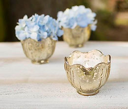 gold votive flower shape