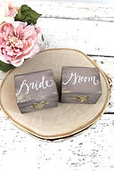 bride and groom ring box