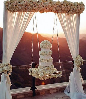 hanging cake no flowers cake stand