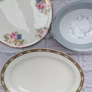 vintage plates/platters