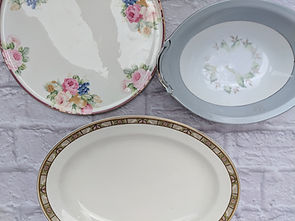 Porcelain serving platters/plates