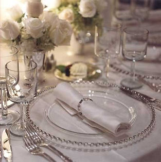 silver glass chargers