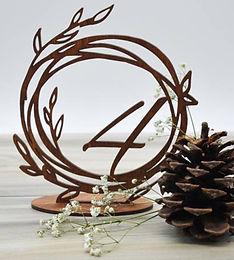 lea wreath table numbers