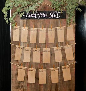 rustic wood place card