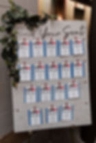 white washboard place cards