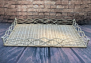 wicker tray