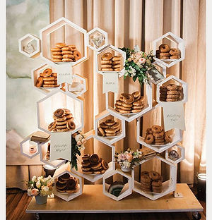 geometric dessert display