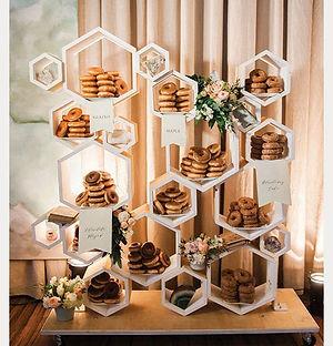 geometric dessert display