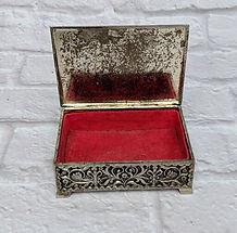 silver velvet ring box