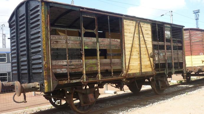 Original deportation railroad car