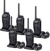 Retevis RT27 Walkie Talkies Rechargeable Long Range FRS Radio 22CH Scrambler VOX 2 Way Radio (Black,5 Pack)