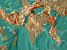 Future map of India and surrounding areas by Gordon-Michael Scallion Matrix Institute