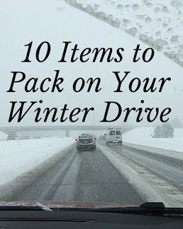 10 Items to Pack on Your Winter Drive