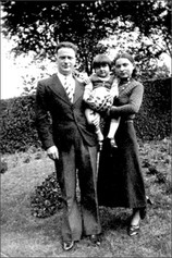 My parents Srul, and Chana Malmed with Rachel, 1935