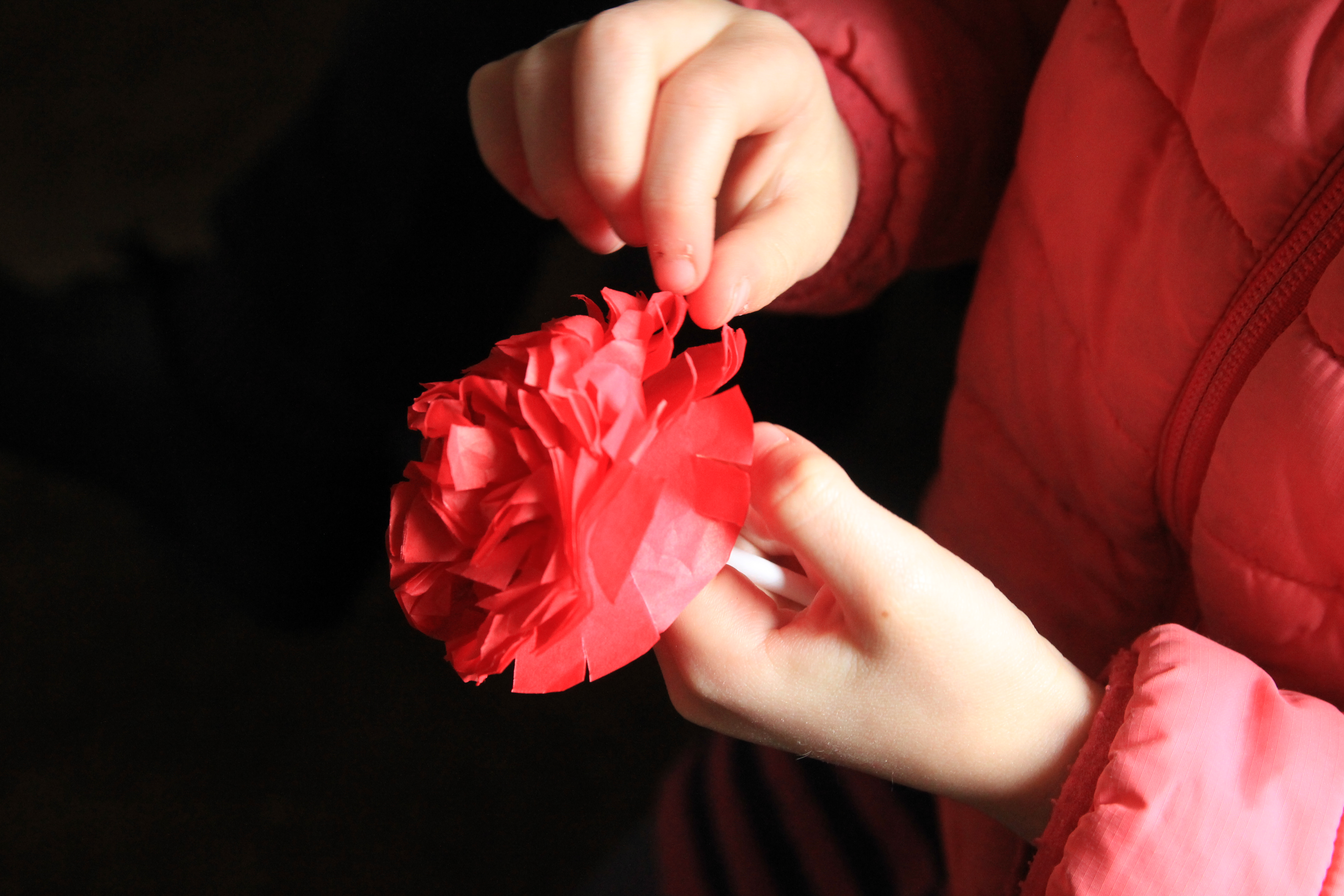 Making flowers for Mother Day