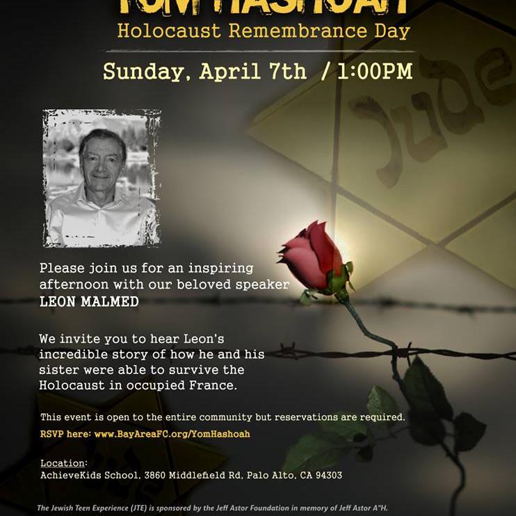 In Honor of Yam Hashoah Holocaust Remberance Day