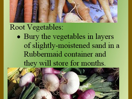 Storing Your Harvestable Goodies