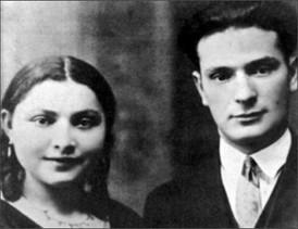 My parents Chana and Srul Malmed, 1936