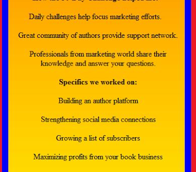 30 Day Book Marketing Challenge