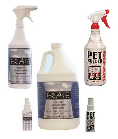 ERASE Odor Eliminator, Pet Butler Odor Eliminator, 1 Gallon, 2oz, or 32 oz