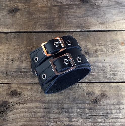 Bracelet 2bk-Wrap oeillets argents