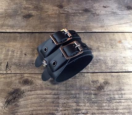 Bracelet 2bk-Wrap oeillets noirs sans couture