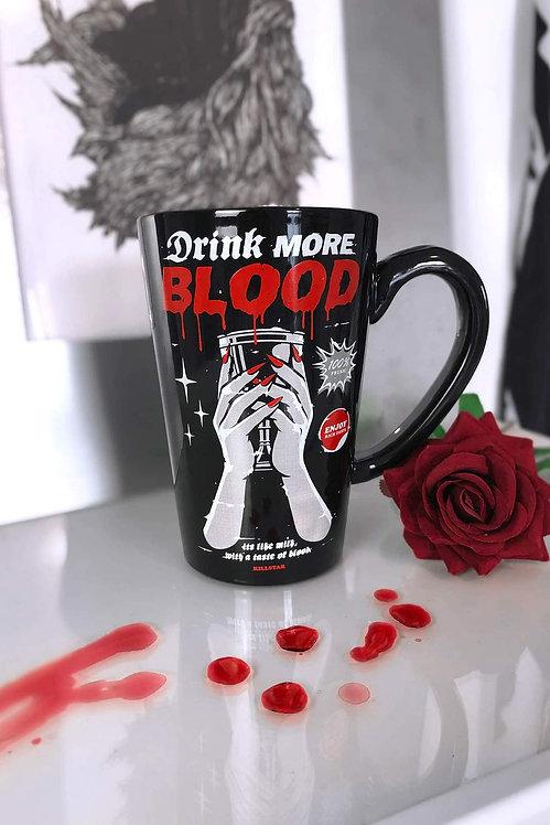 Tasse ''Drink more blood''
