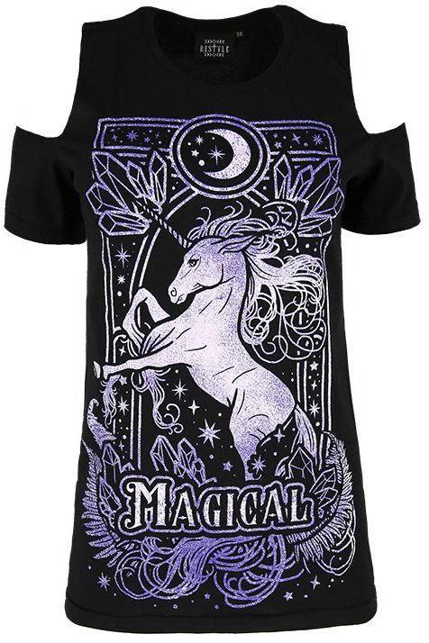 T-shirt ''Magical Unicorn'' épaules dégagées