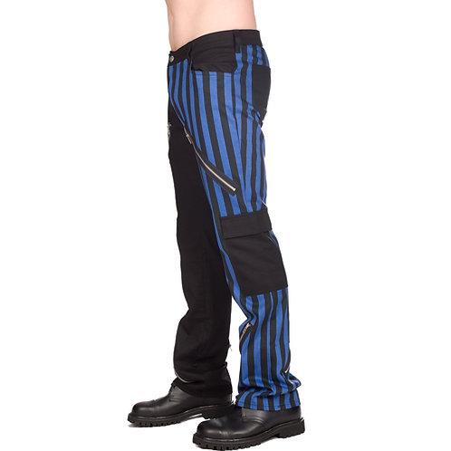 Pantalon Freak ligné bleu