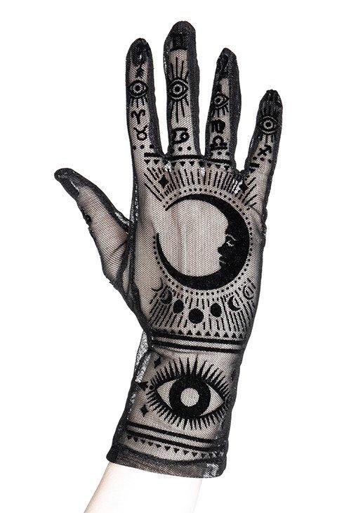 Gants à motifs occultes