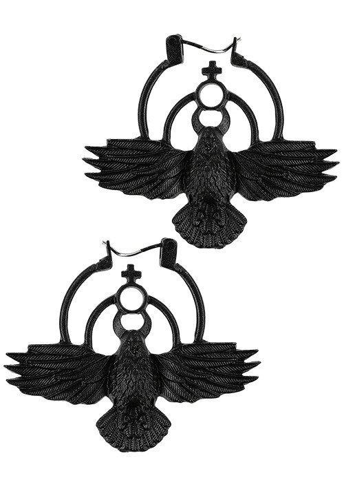 Boucles d'oreilles ''The Crow''
