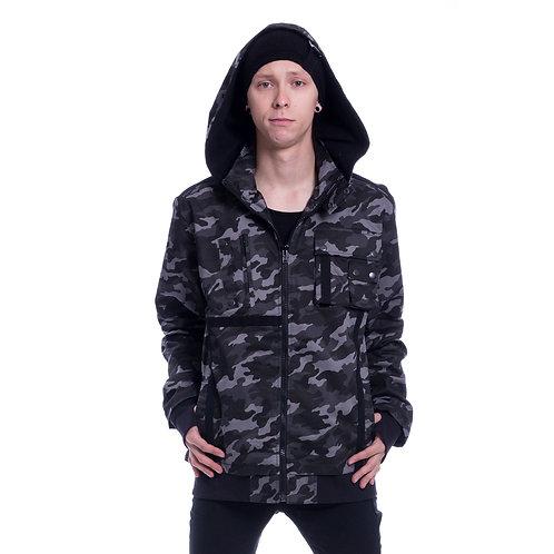 Carter jacket camo gris