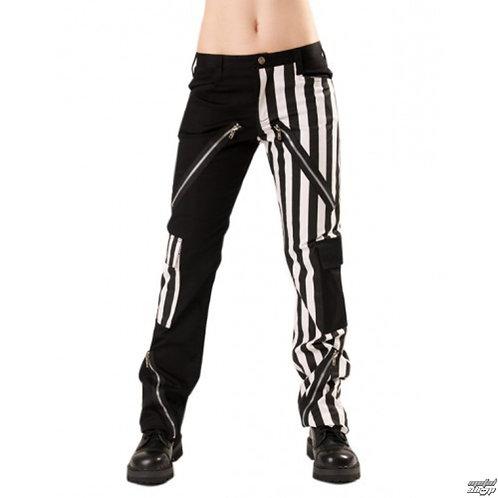 Pantalons lignés noir et blanc