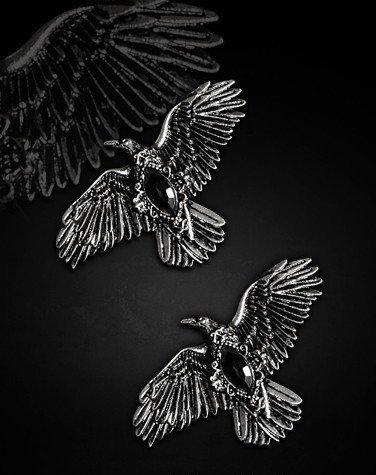 Barrettes corbeaux Restyle