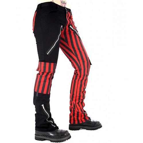 Pantalon Freak ligné rouge