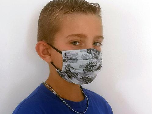 Masque enfant Kustom gris pâle