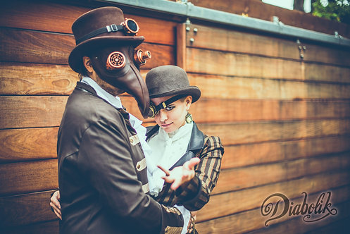 Masque steampunk Peste Noire