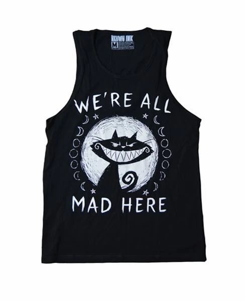 Camisole ''We're all mad here'' Homme