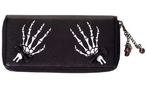 Portefeuille ''Skeleton Hands Bows''