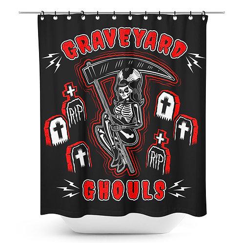 Rideau de douche ''Graveyard Ghouls''