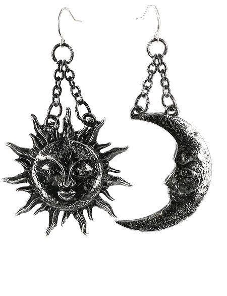 Boucles d'oreilles ''Moon and Sun''