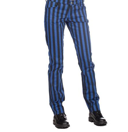 Pantalon Close ligné bleu