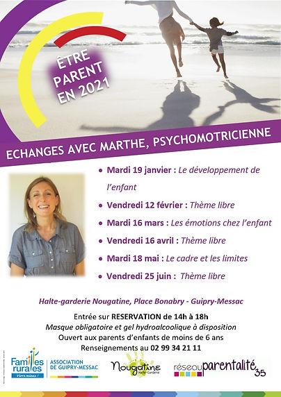 Affiche rencontres parentalité Nougatine