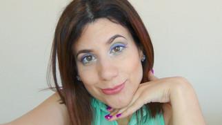 Maquilhagem colorida BÁSICA com delineado em BATOM