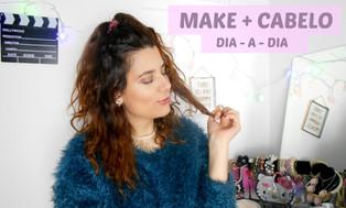 MAQUILHAGEM + CABELO rápidos par ao DIA-A-DIA | Patrícia Teixeira